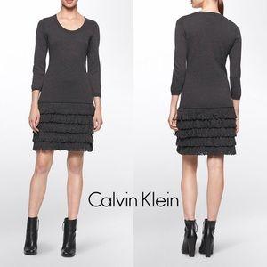 SOLD Calvin Klein Loop Fringe Dress